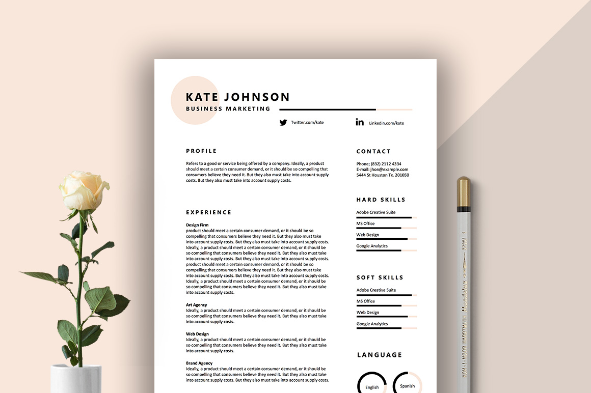 Vita Free Resume Template