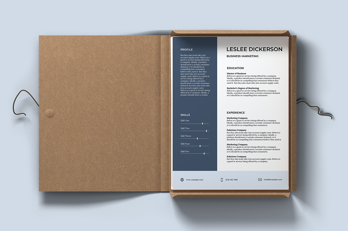 Bordeaux Free Resume Template