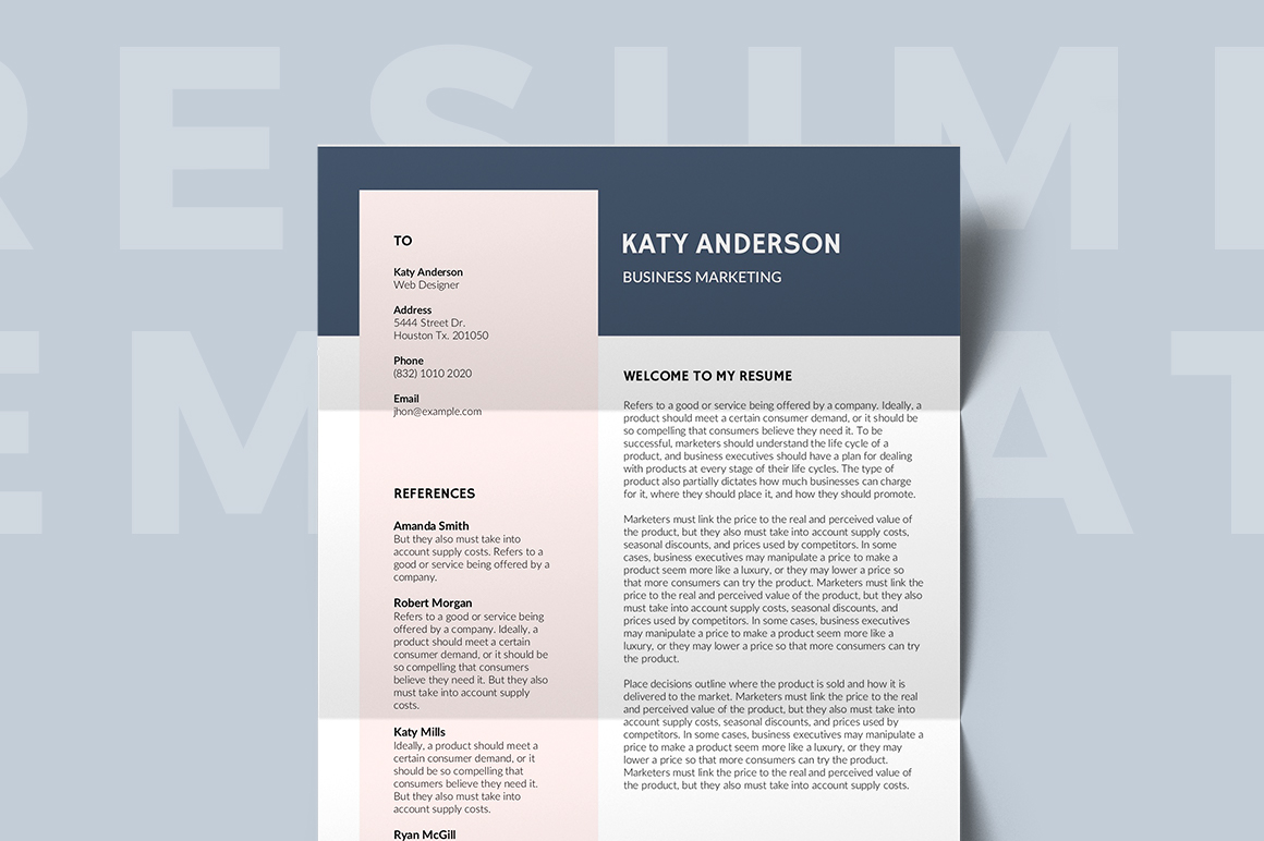 Montpellier Free Resume Template