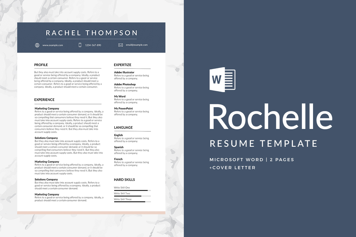 Rochelle Free Resume Template