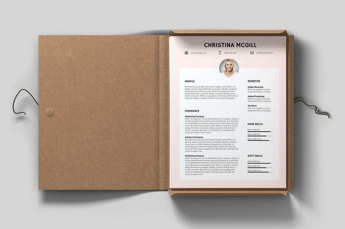Toulon Free Resume Template