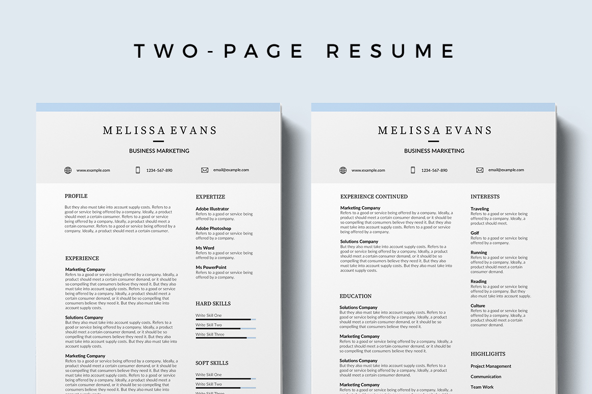 Ville Free Resume Template